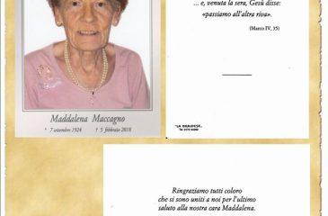 Ricordino Maddalena Maccagno