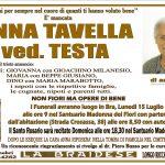LUTTO ANNA TAVELLA