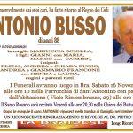 LUTTO ANTONIO BUSSO