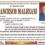 LUTTO FRANCESCO MALESANI