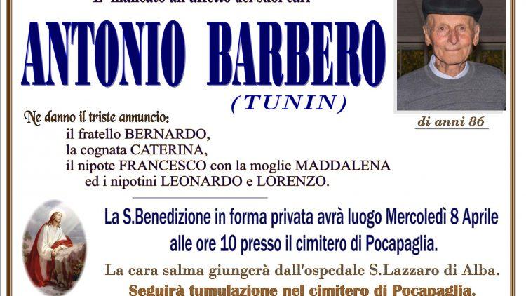 LUTTO ANTONIO BARBERO