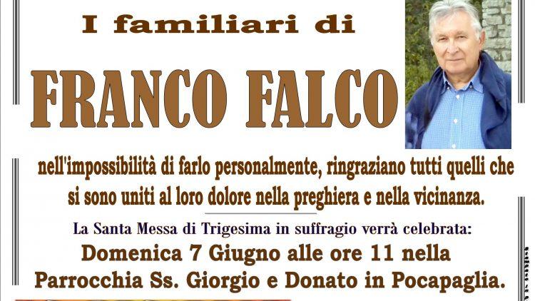 TRIGESIMA FRANCO FALCO