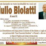 Lutto Giulio Biolatti