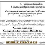 ANNUNCIO SAC.CANONICO CAPRIOLO DON EMILIO