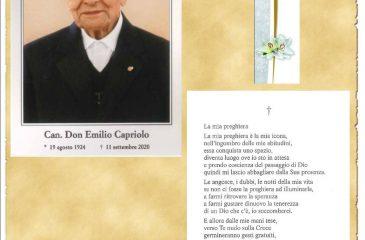 RICORDINO SAC. DON EMILIO CAPRIOLO