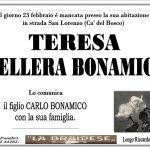 LUTTO TERESA DELLERA BONAMICO