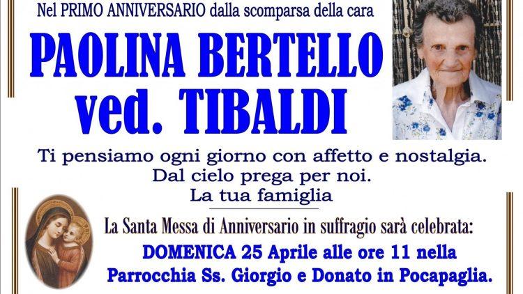 ANNIVERSARIO PAOLINA BERTELLO