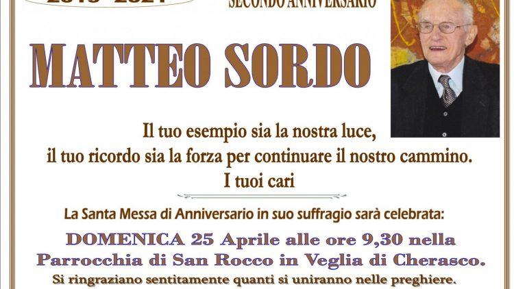 ANNIVERSARIO MATTEO SORDO