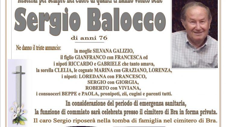 LUTTO SERGIO BALOCCO