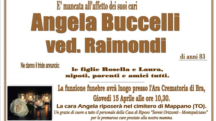 LUTTO ANGELA BUCCELLI