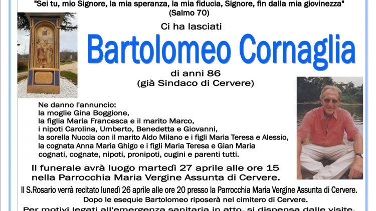 LUTTO BARTOLOMEO CORNAGLIA