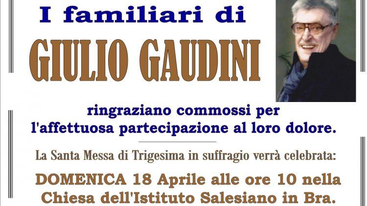 TRIGESIMA GIULIO GAUDINI