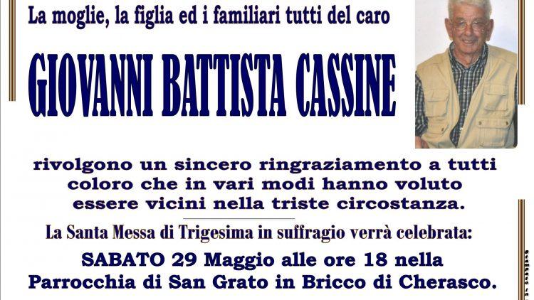 TRIGESIMA GIOVANNI BATTISTA CASSINE