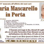 LUTTO MARIA MASCARELLO