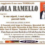 LUTTO PAOLA RAMELLO